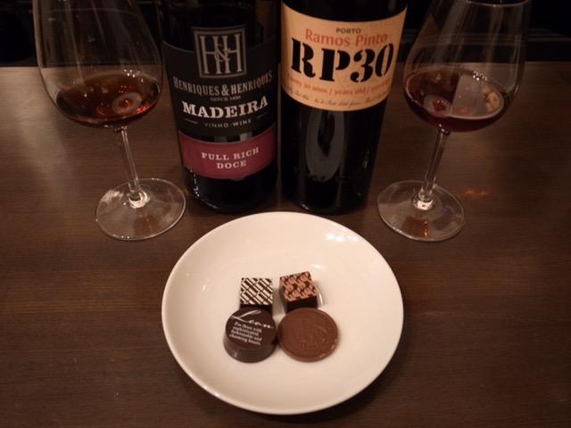 チョコレートにマデイラとポート